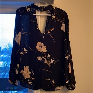 Dynamite floral long sleeve blouse